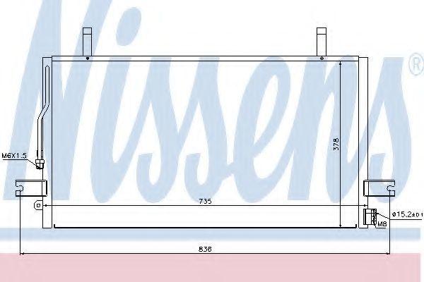 Радиатор кондиционера NISSENS 94500