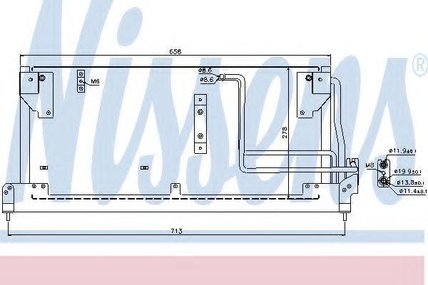 Радиатор кондиционера NISSENS 94502