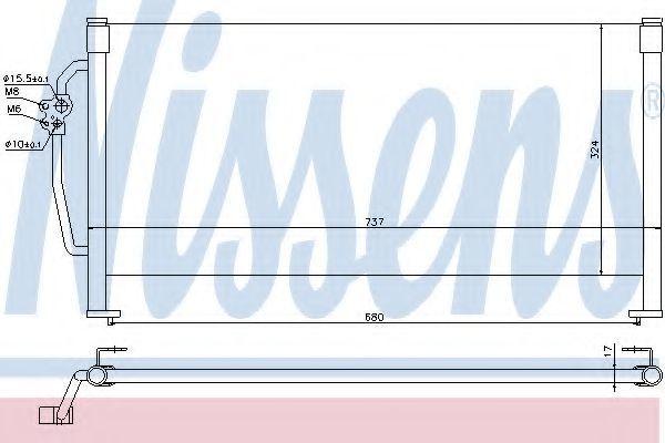 Радиатор кондиционера NISSENS 94505