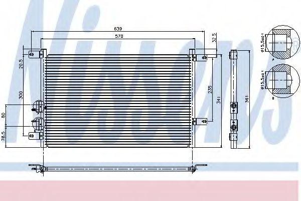Радиатор кондиционера NISSENS 94526