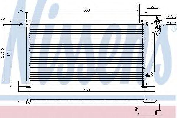 Радиатор кондиционера NISSENS 94527