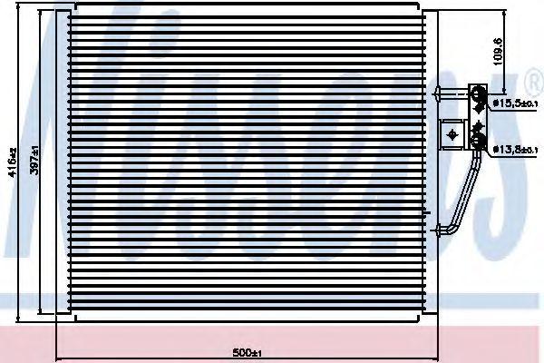 Радиатор кондиционера NISSENS 94529