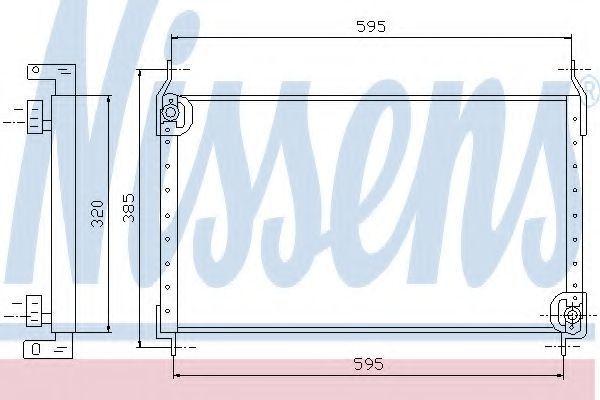Радиатор кондиционера NISSENS 94530