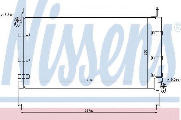 Радиатор кондиционера NISSENS 94532
