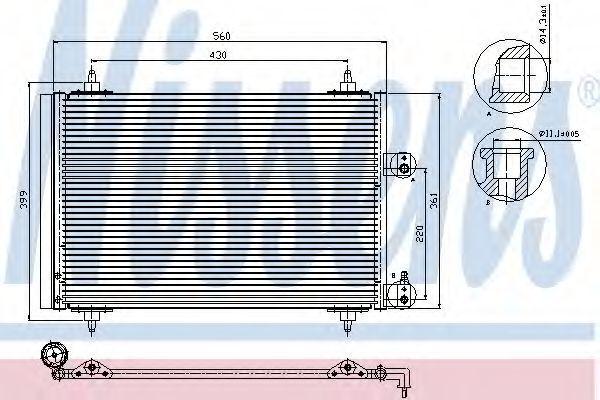 Радиатор кондиционера NISSENS 94560