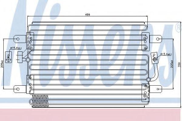 Радиатор кондиционера NISSENS 94561