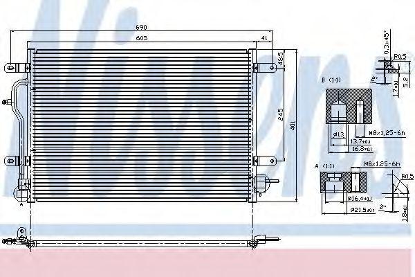 Радиатор кондиционера NISSENS 94583