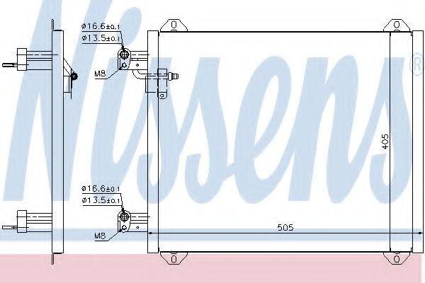 Радиатор кондиционера NISSENS 94584