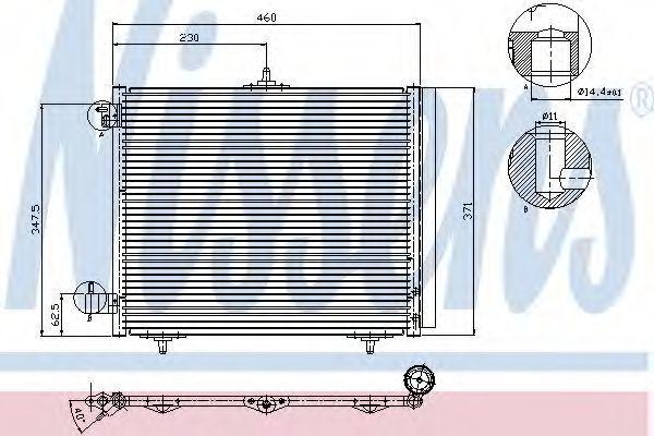 Радиатор кондиционера NISSENS 94595