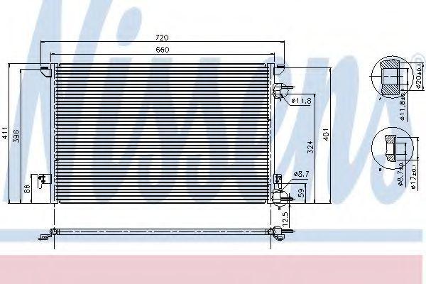 Радиатор кондиционера NISSENS 94598