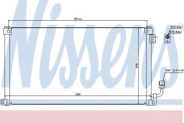 Радиатор кондиционера NISSENS 94599