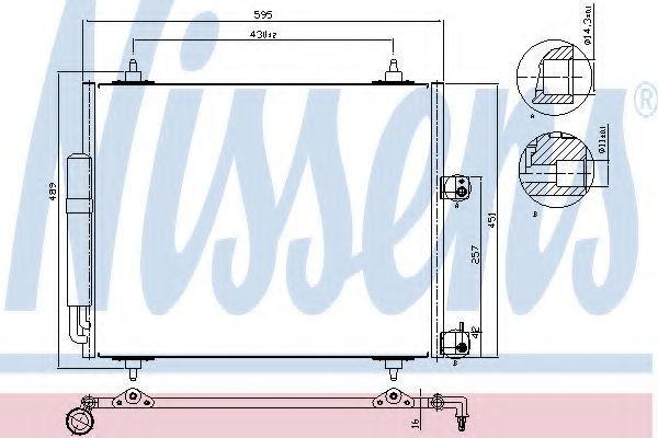 Радиатор кондиционера NISSENS 94609