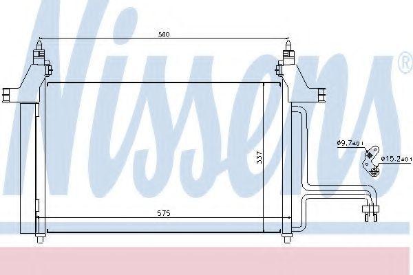 Радиатор кондиционера NISSENS 94610