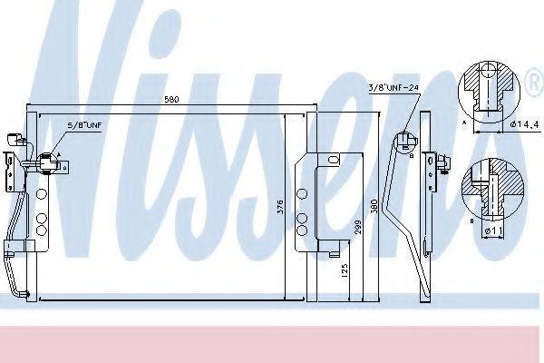 Радиатор кондиционера NISSENS 94613
