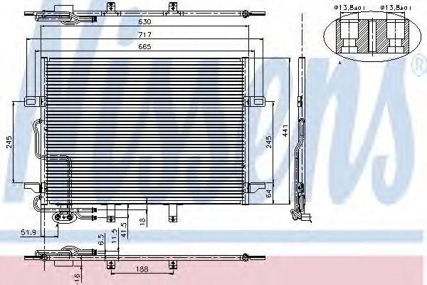 Радиатор кондиционера NISSENS 94614