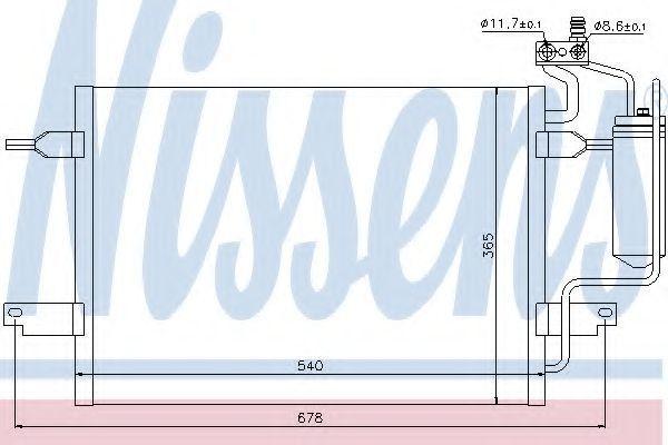 Радиатор кондиционера NISSENS 94624