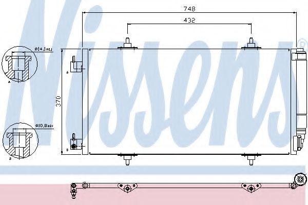 Радиатор кондиционера NISSENS 94629