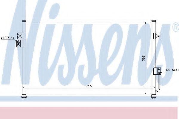 Радиатор кондиционера NISSENS 94634