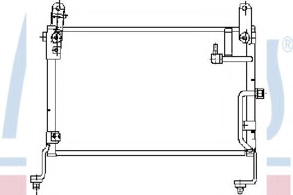 Радиатор кондиционера NISSENS 94635
