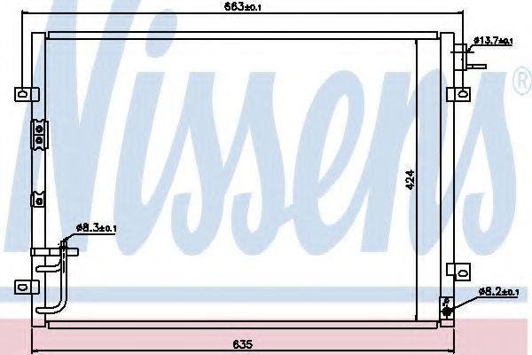 Радиатор кондиционера NISSENS 94636