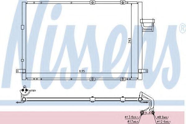 Радиатор кондиционера NISSENS 94637