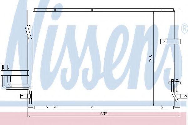 Радиатор кондиционера NISSENS 94638