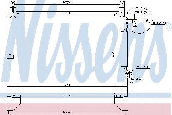 Радиатор кондиционера NISSENS 94642