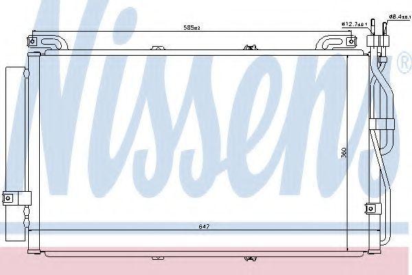 Радиатор кондиционера NISSENS 94645