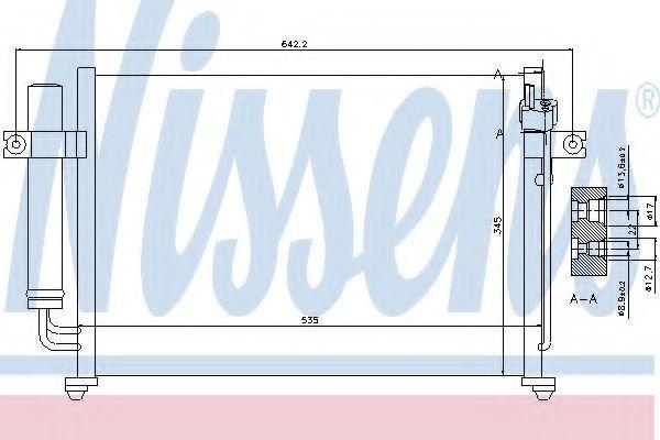 Радиатор кондиционера NISSENS 94646