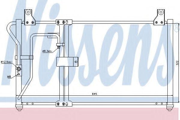 Радиатор кондиционера NISSENS 94649