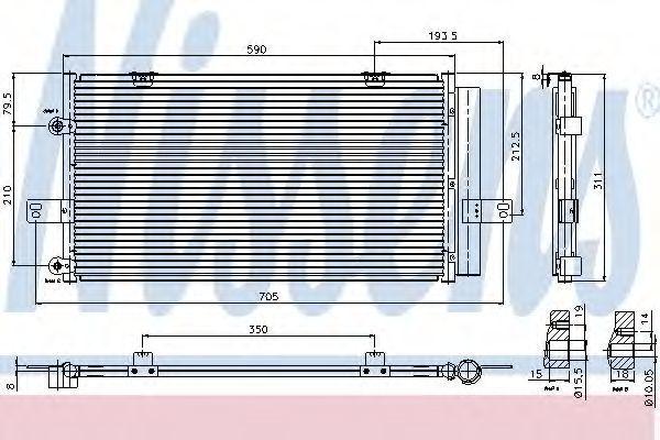 Радиатор кондиционера NISSENS 94652
