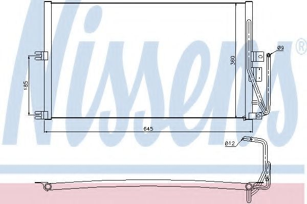 Радиатор кондиционера NISSENS 94653