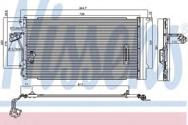 Радиатор кондиционера NISSENS 94667