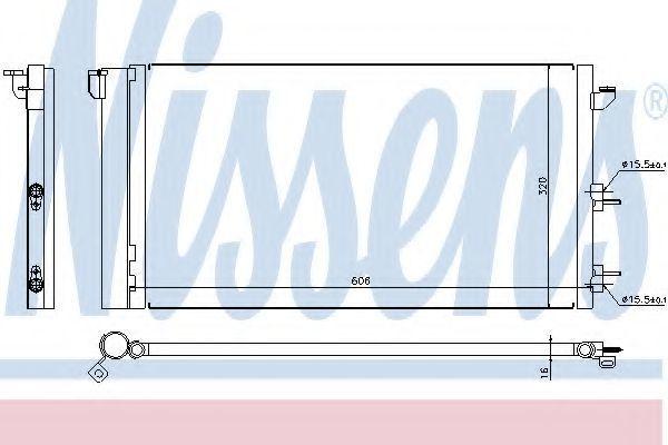 Радиатор кондиционера NISSENS 94670