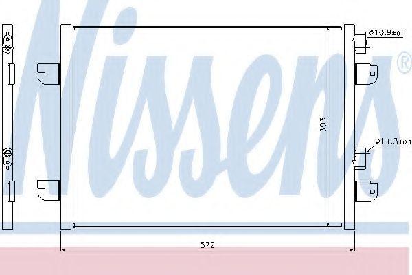 Радиатор кондиционера NISSENS 94673