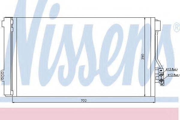 Радиатор кондиционера NISSENS 94674