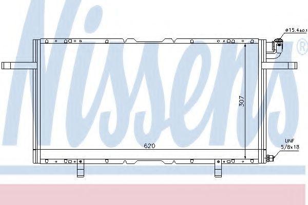 Радиатор кондиционера NISSENS 94686