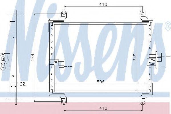 Радиатор кондиционера NISSENS 94700