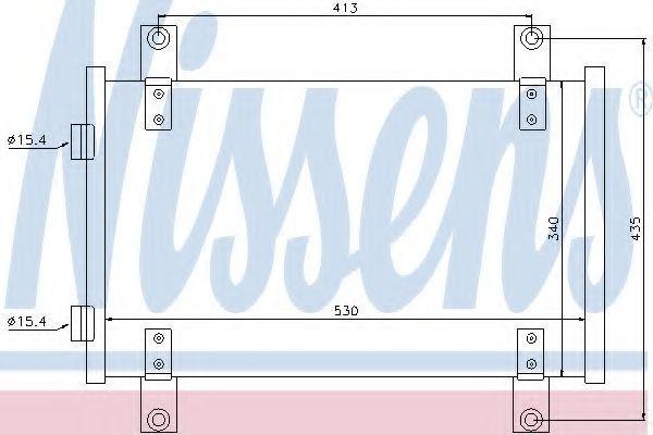 Радиатор кондиционера NISSENS 94712
