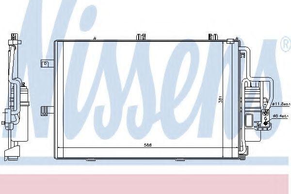 Радиатор кондиционера NISSENS 94721