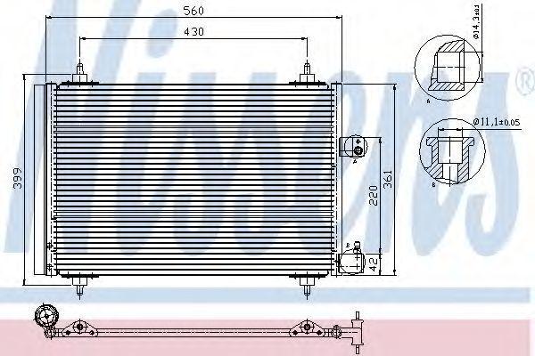 Радиатор кондиционера NISSENS 94723