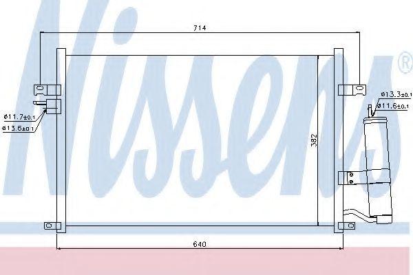 Радиатор кондиционера NISSENS 94725