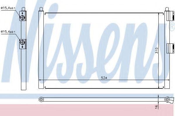 Радиатор кондиционера NISSENS 94728