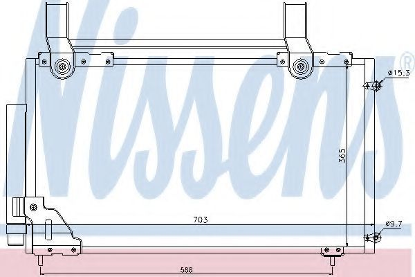 Радиатор кондиционера NISSENS 94735