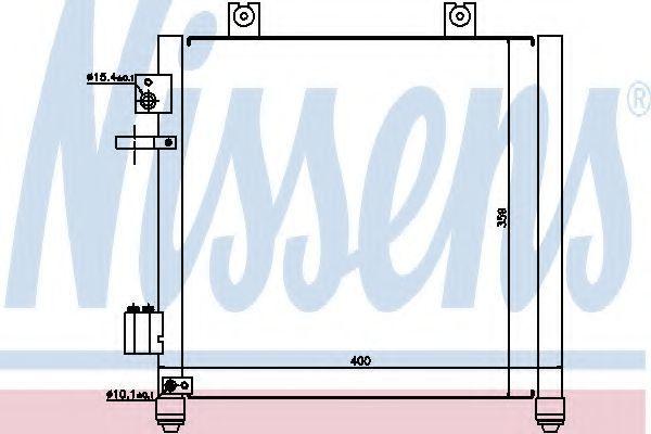 Радиатор кондиционера NISSENS 94739