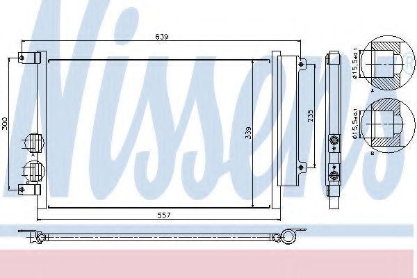 Радиатор кондиционера NISSENS 94744