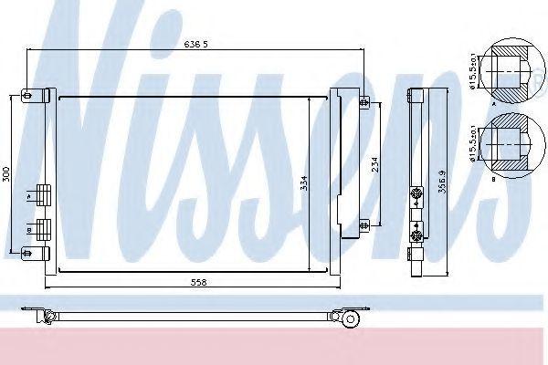 Радиатор кондиционера NISSENS 94746