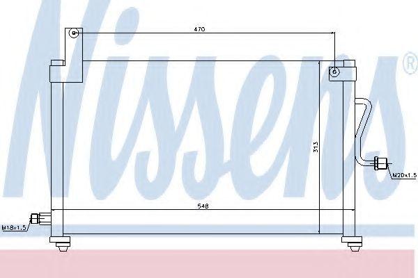 Радиатор кондиционера NISSENS 94751