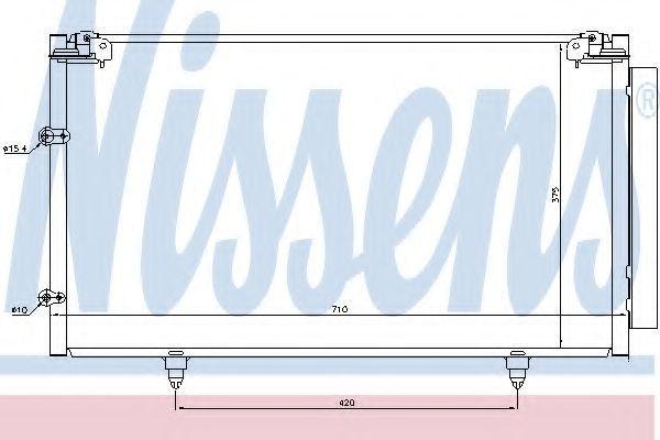 Радиатор кондиционера NISSENS 94757