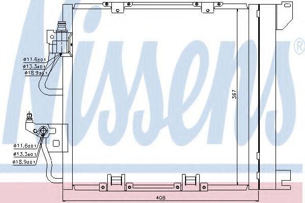 Радиатор кондиционера NISSENS 94768
